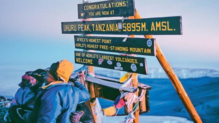 Výstup na Kilimanjaro
