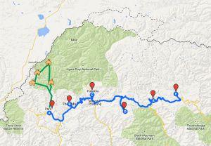 mapa-Bhutan